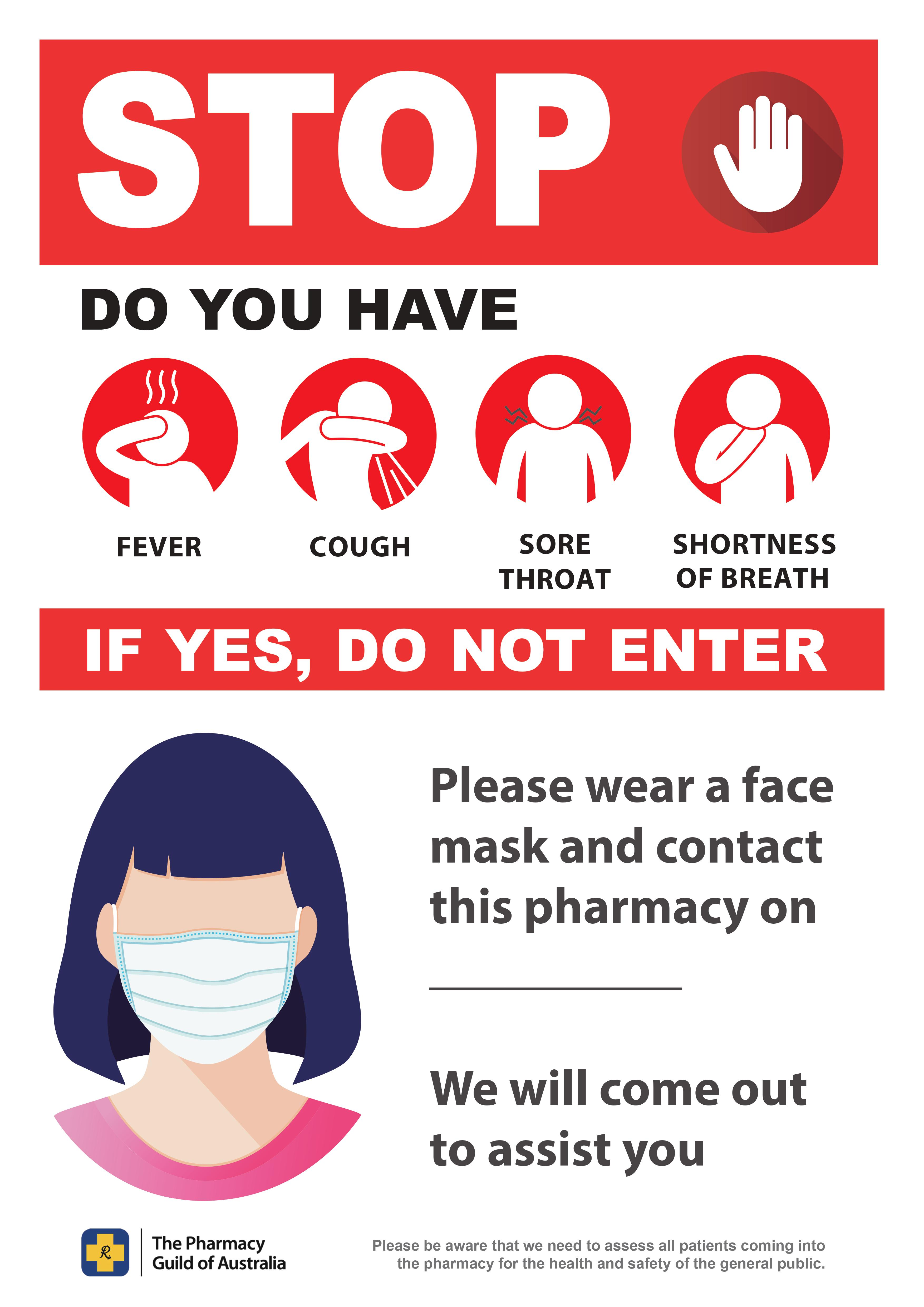 COVID-19 or Cold Flu Poster