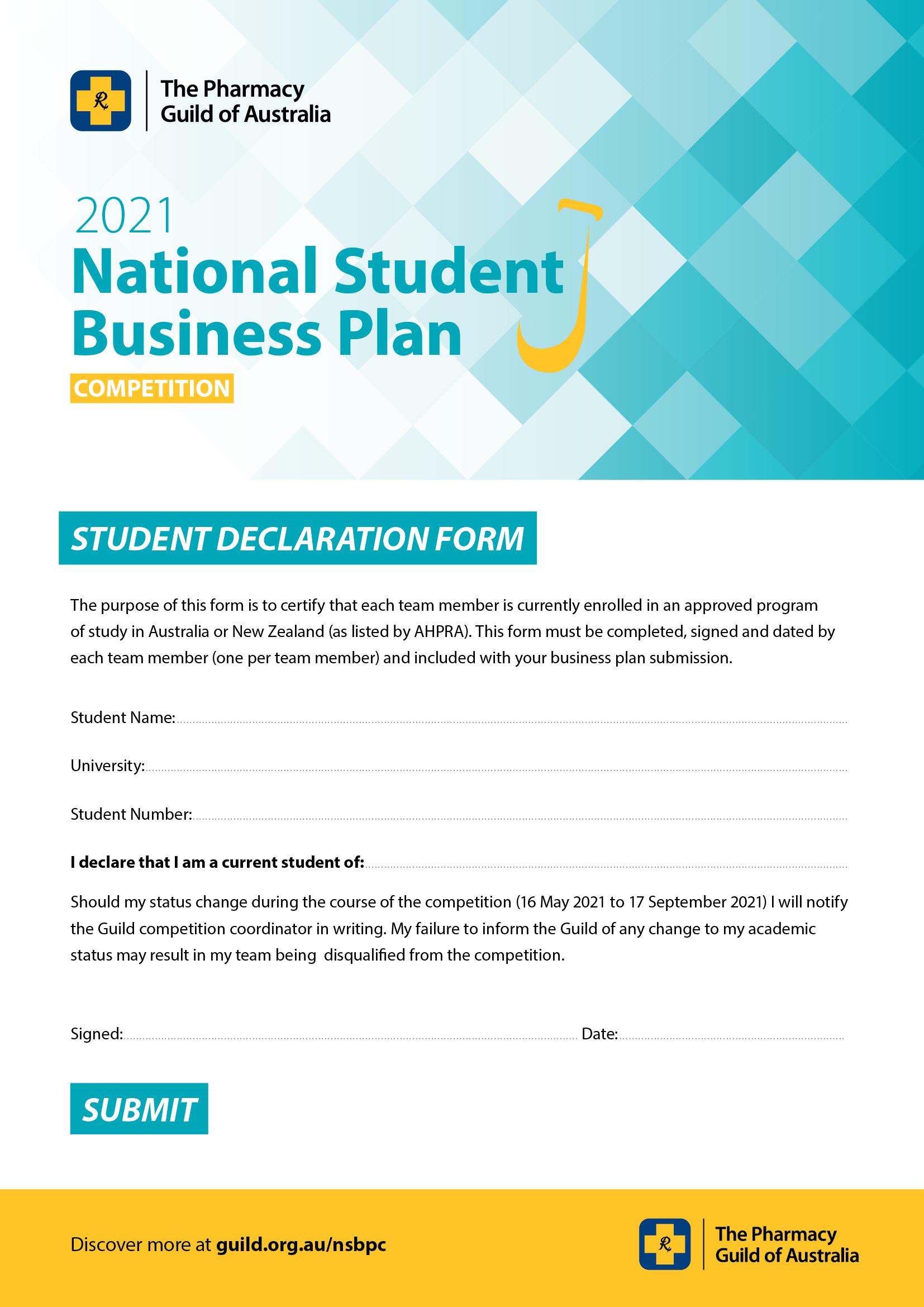NSBPC 2021 Declaration form image
