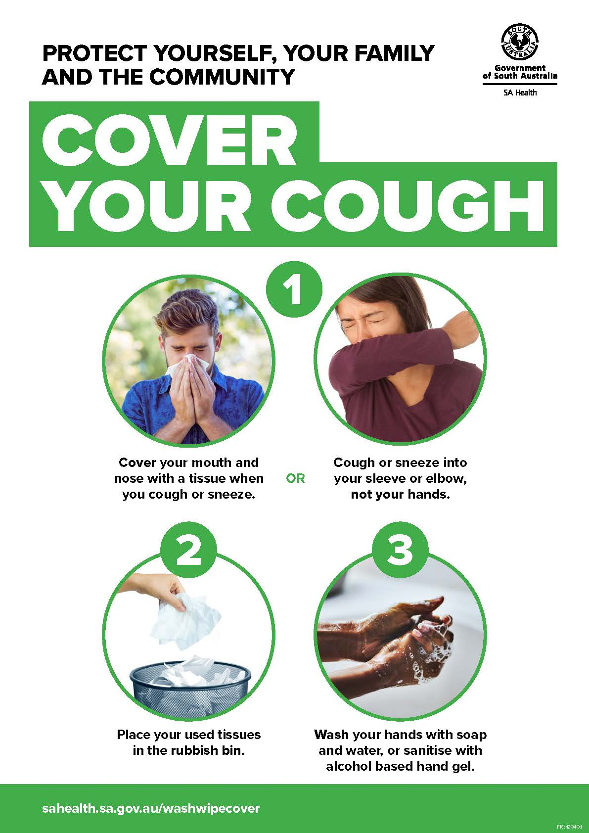 COVER YOUR COUGH Poster (English)
