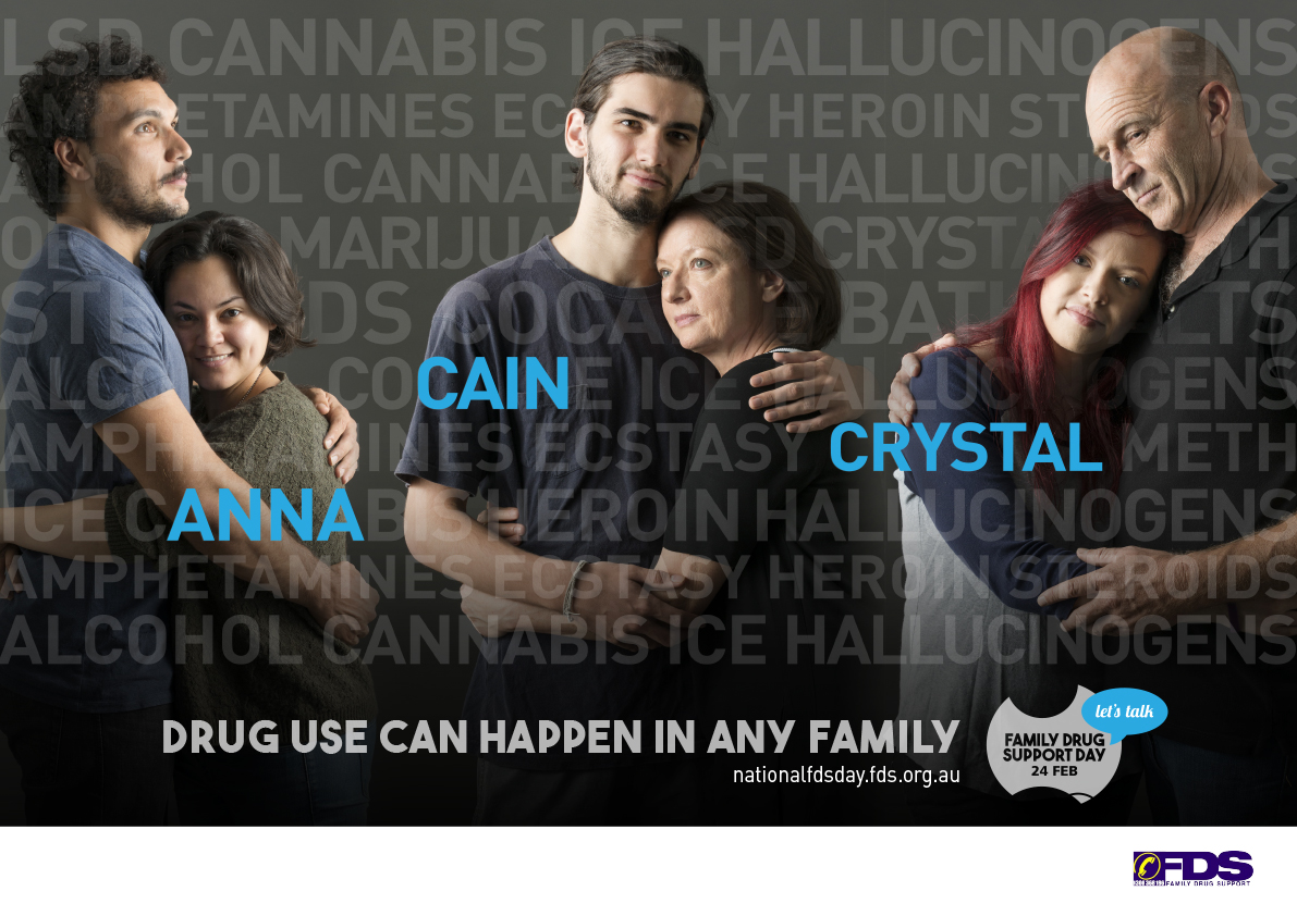 Landscape Family Drug Support poster
