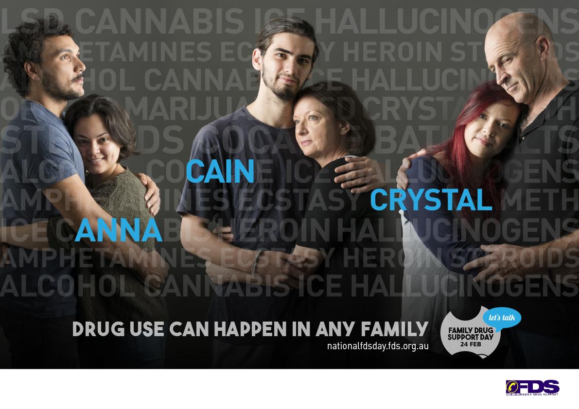 Landscape Family Drug Support poster