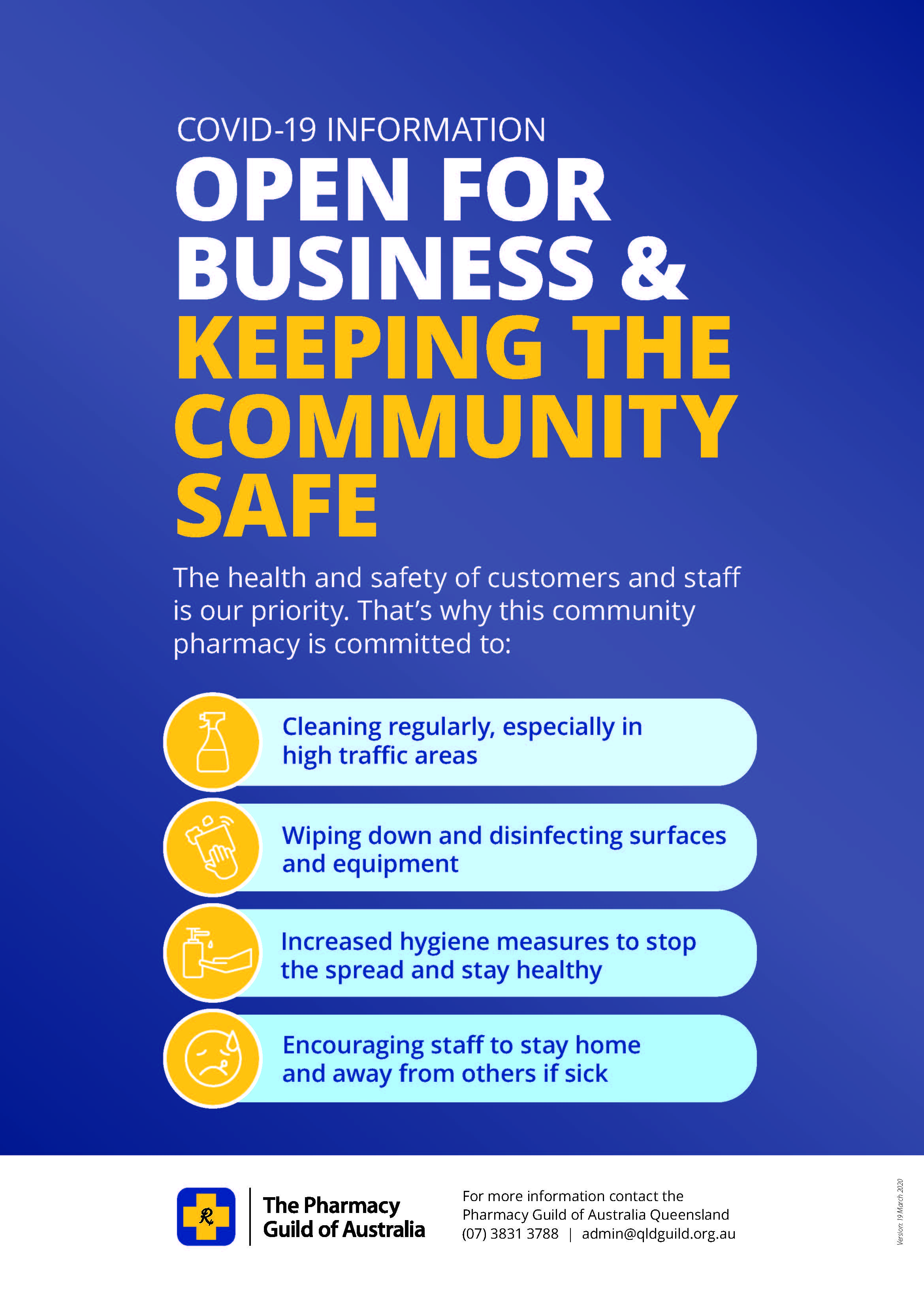 Poster - Keep The Community Safe