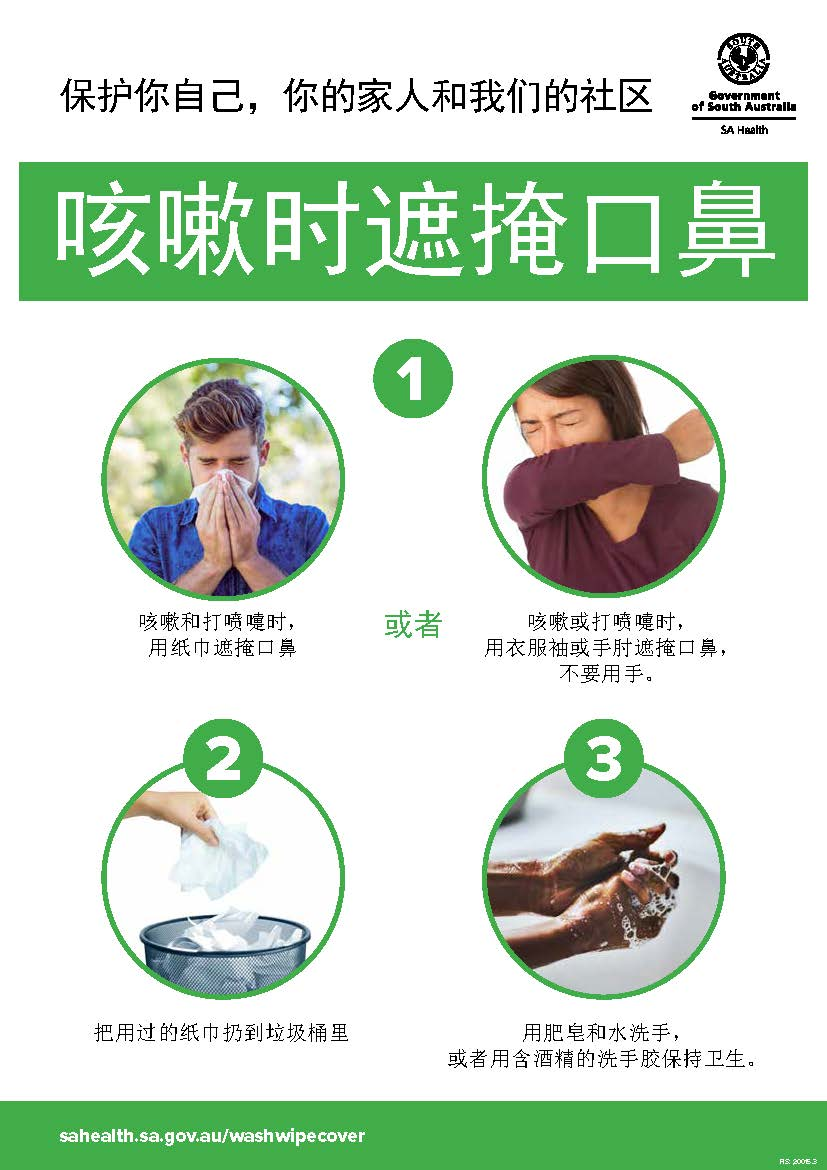 COVER YOUR COUGH Poster (Simplified Chinese)