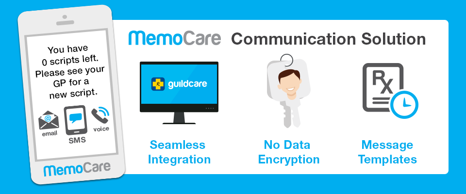 MemoCare communication solution: Seamless integration; no data encryption; message templates