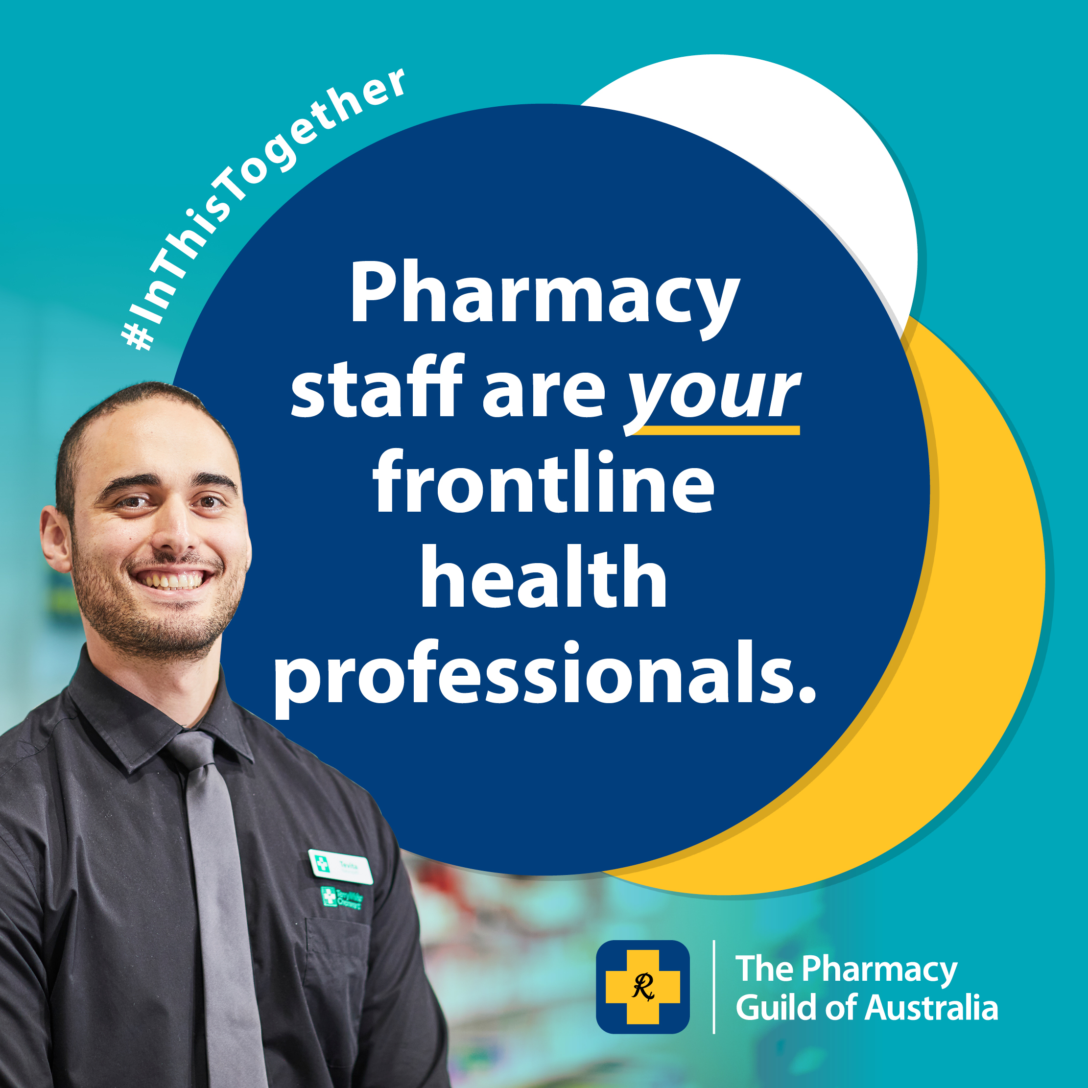 Social Media Tile 5 - Pharmacy Staff Are Frontline Health Professionals