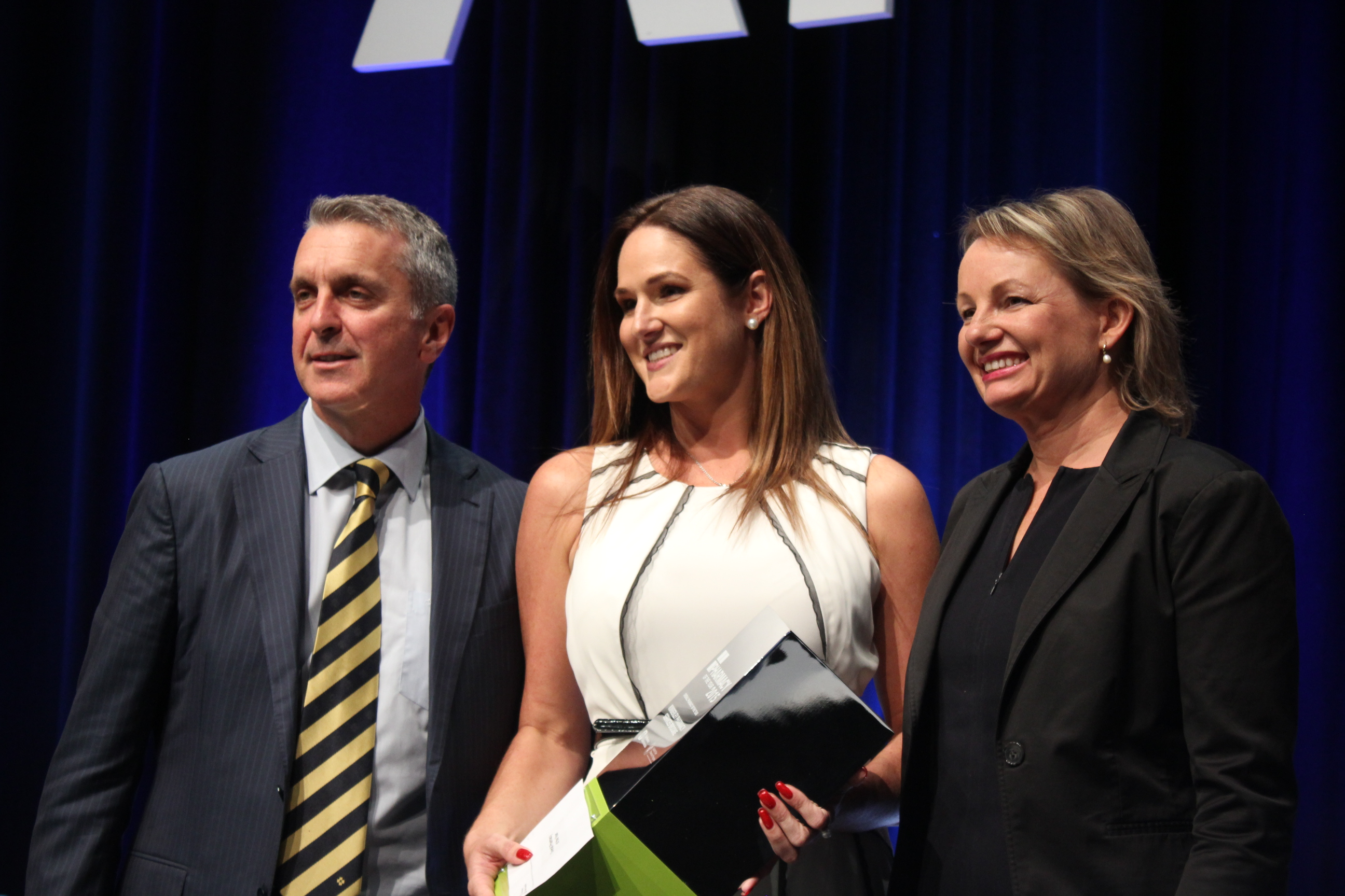 George Tambassis, Hannah Mann and Health Minister Sussan Ley