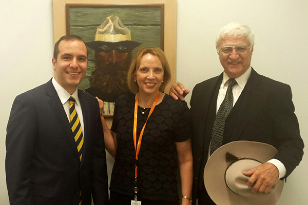 Paul Jaffar, Amanda Lynch and Bob Katter