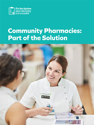 Publication Cover - Community Pharmacies Part of the Solution