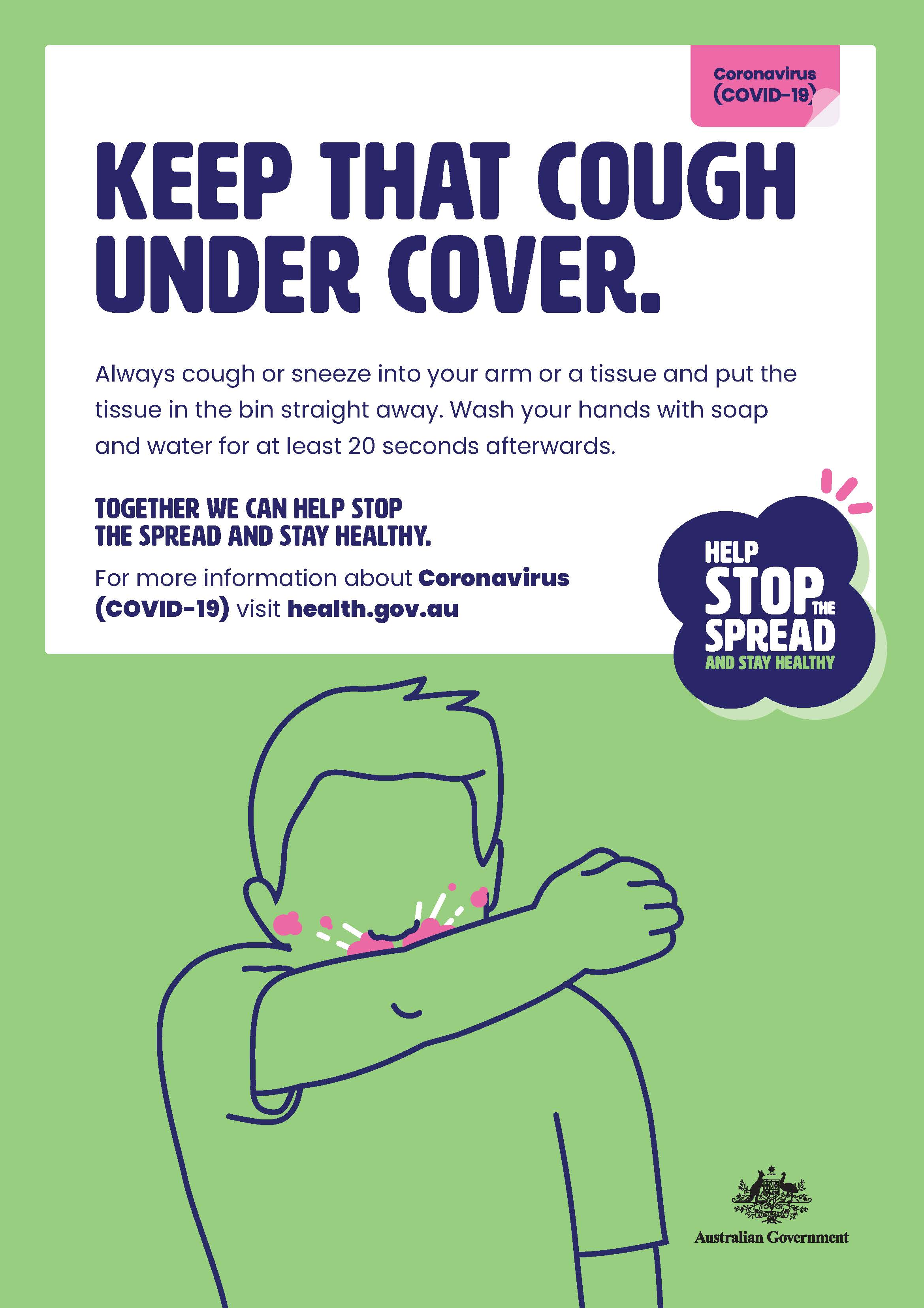 Poster -  Keep that cough under cover