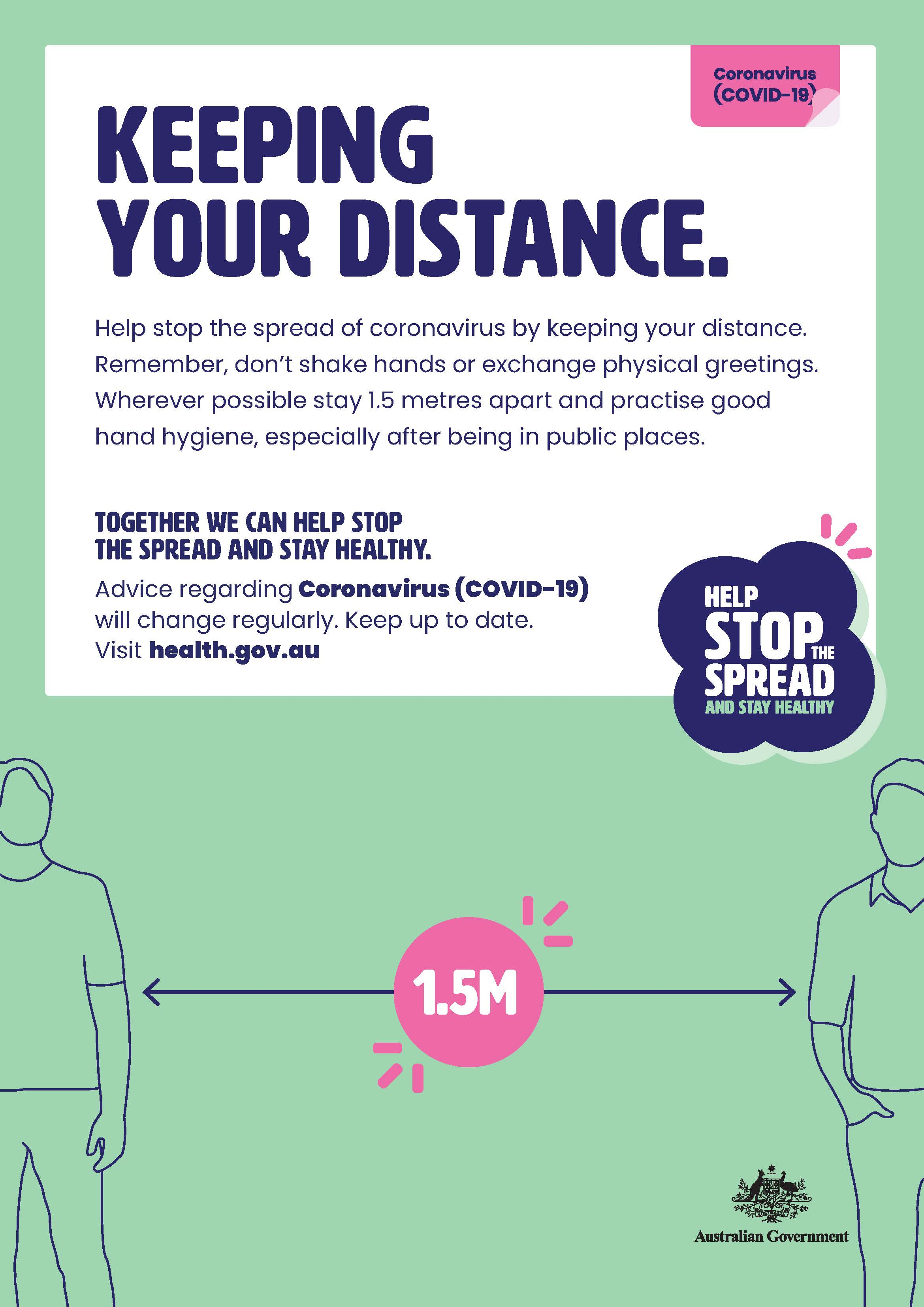 Poster - Keeping your distance