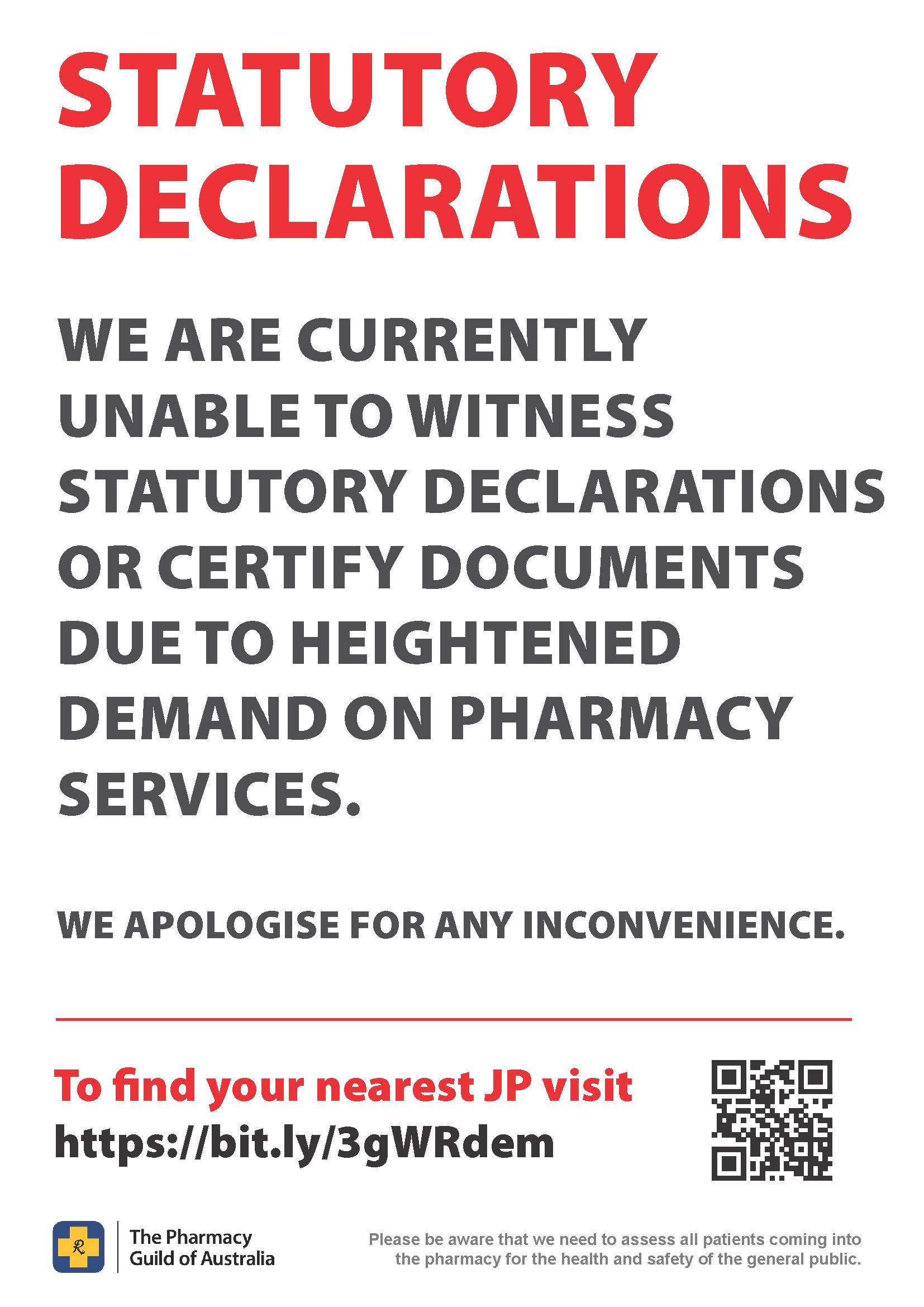 Statutory Declarations - A4 Size