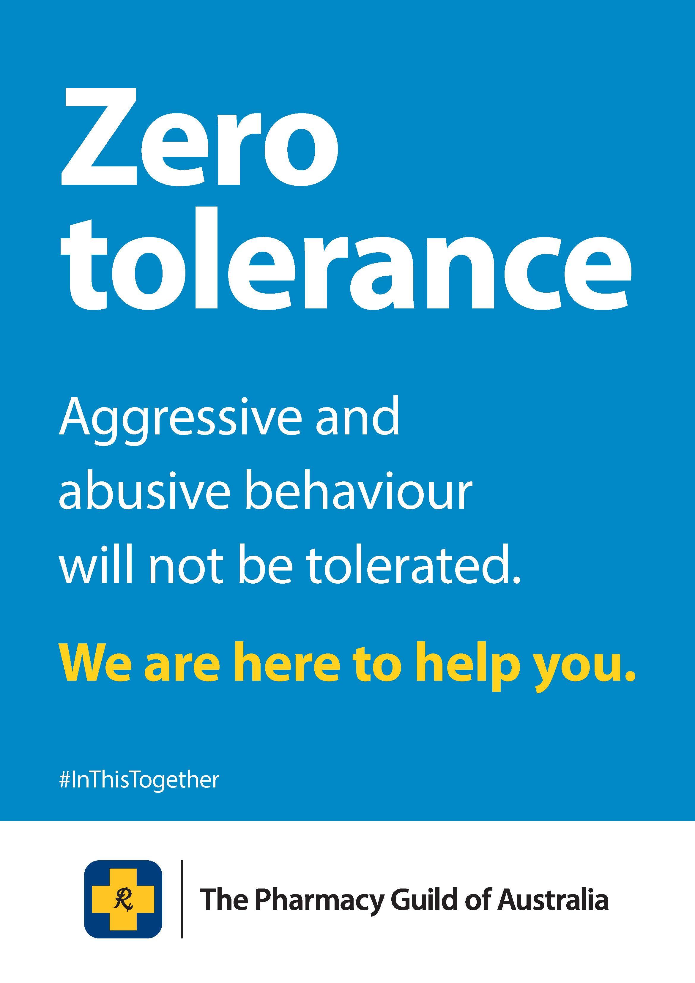 COVID-19 Poster 8 - Zero Tolerance