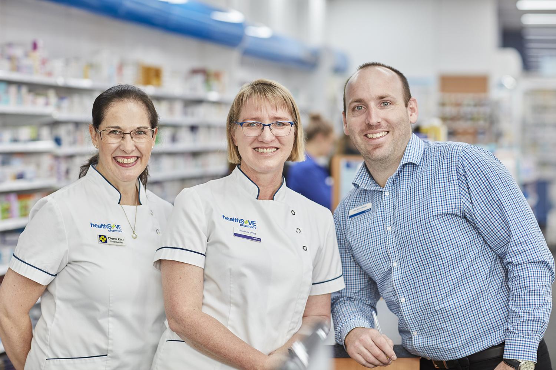 Staff at Wilkinson's Pharmacy Burnie
