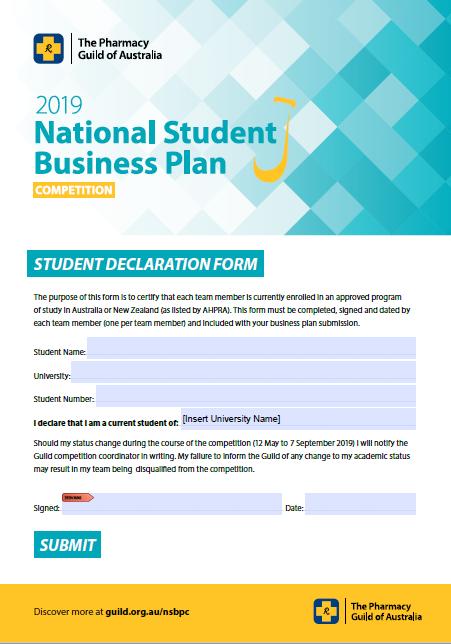 Declaration Form NSBPC2019