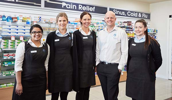 Staff from Moama Pharmacy, New South Wales