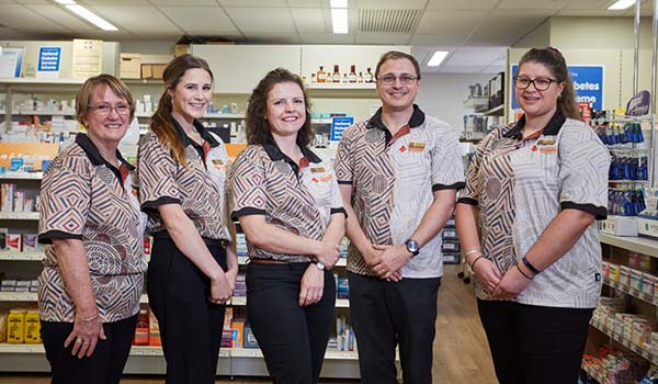 Staff from Wheatbelt Heatlth Centre Pharmacy, Northam Western Australia