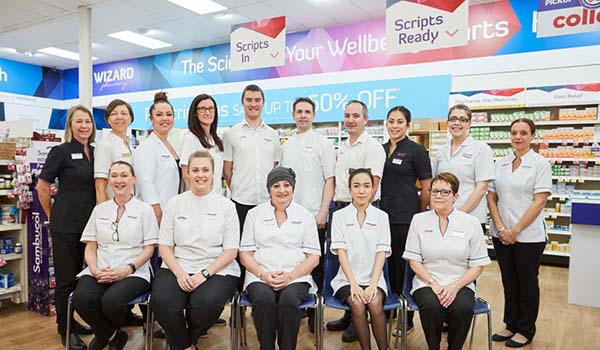 Staff from Wizard Pharmacy, Kalgoorlie Western Australia